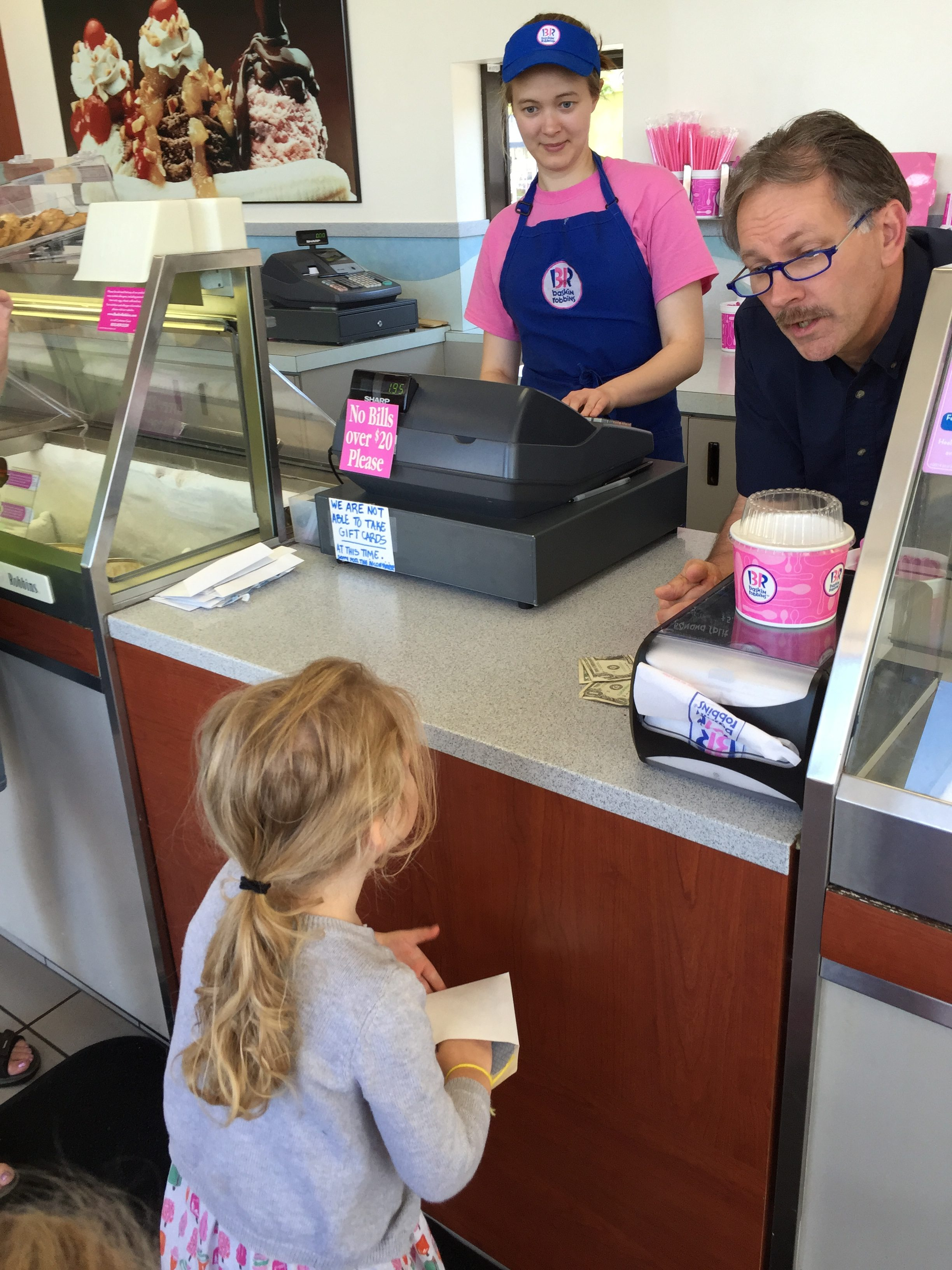 Speaking for a variety of audiences has its rewards for this ice cream lover!